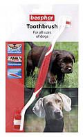 Beaphar TOOTHBRUSH / Подвійна зубна щітка для собак та котів