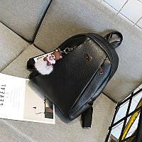 Рюкзак женский городской из  эко кожи  (черный)