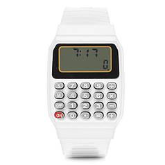 Дитячі наручні Годинники-Калькулятор білі
