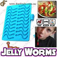 """Силиконовая форма Жевательные червячки - """"Jelly Worms"""", фото 1"""