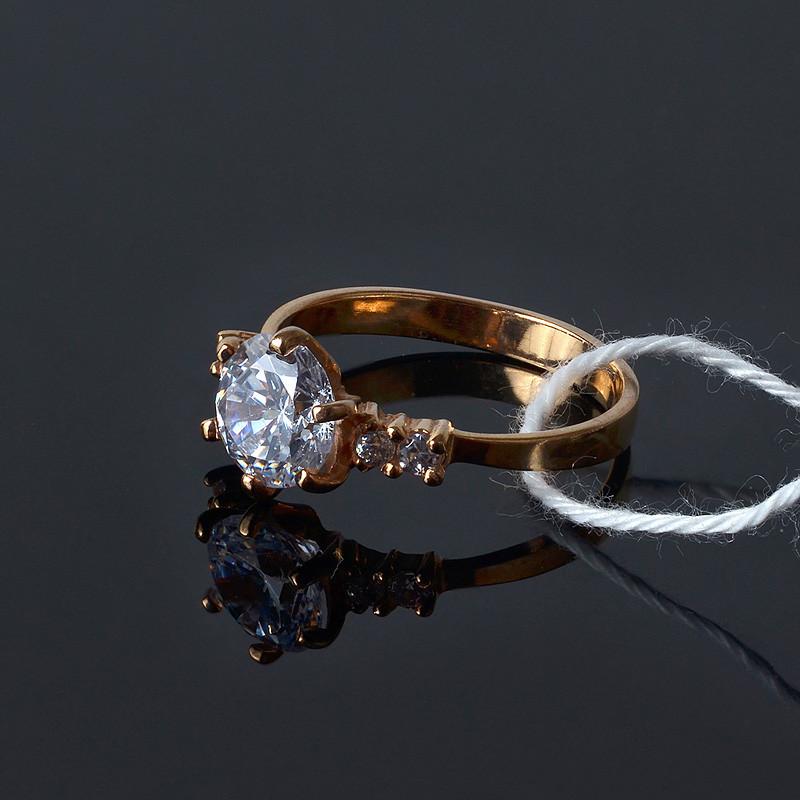 Кольцо ТМ Орияна серебро с позолотой
