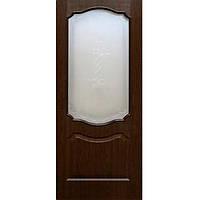 Дверь межкомнатная ОМиС Прима 70 см каштан со стеклом