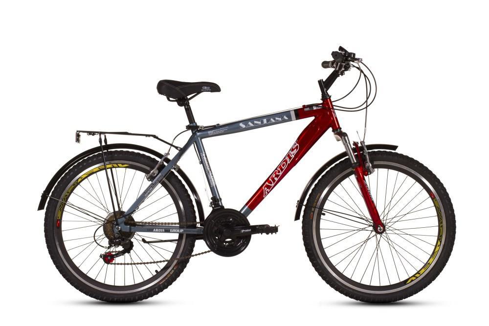 """Городской велосипед ARDIS SANTANA CTB 26"""" 19""""  Серый/Красный"""