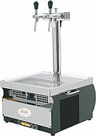 Охладитель пива надстоечный - 55 л/ч - сухой Kontakt 55, с колонной на 2 крана, Lindr, Чехия