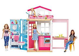 Barbie Портативный домик Барби с куклой (Barbie 2-Story House with doll)