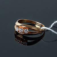 Серебряное кольцо с позолотой, фото 1