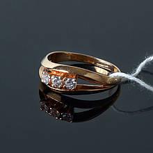 Серебряное кольцо с позолотой 17 размер