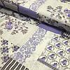 Бязь Прованс лоскуты с сиреневыми цветами, ширина 220 см