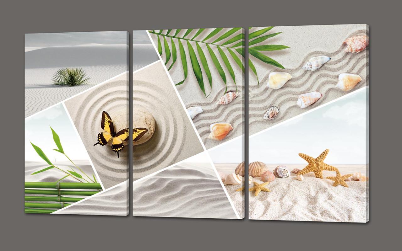 Модульная картина Морской коллаж 124*70 см