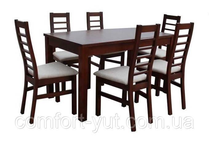 Стол Модерн орех 140(+40)*80 обеденный раскладной деревянный