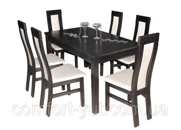 Стол Модерн венге 140(+40)*80 обеденный раскладной деревянный