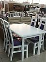 Стол Комфорт орех120(+40+40)*80 обеденный раскладной деревянный, фото 3