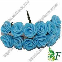 Букетик латексных розочек 20мм голубая за 12 букетов