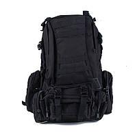 Рюкзак тактический военный 1000D водонзащитный черный, фото 1