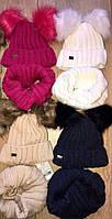 Детский зимнийнабор для девочкишапка + хомут