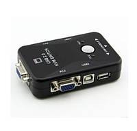2-портовый KVM свич-переключатель для компьютеров USB + VGA Модель KVM21UA