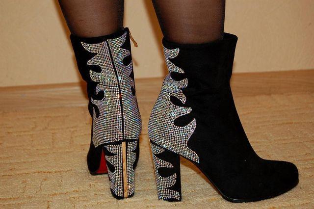 Ботильоны и ботиночки женские на каблуке