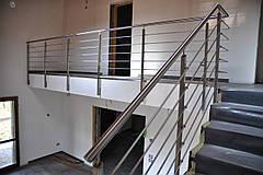 Перила нержавеющие сборные на лестницу