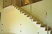 Перила нержавеющие сборные на лестницу, фото 2