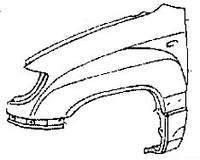 Крыло переднее левое Lexus LX470 53812-6A202