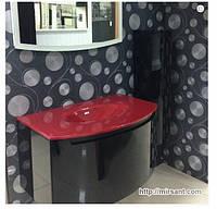 Комплект мебели для ванной комнаты Marsan Medeleine(белый,черный)90см