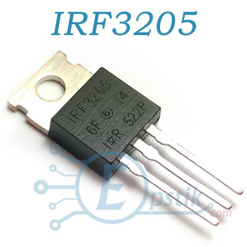 IRF3205, MOSFET транзистор, N-канал 55В, 110А, TO220