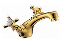 CUTHNA zlato двухвентильный смеситель для раковины, золото