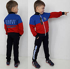 Детский спортивный костюм BMW красный, р.104-152
