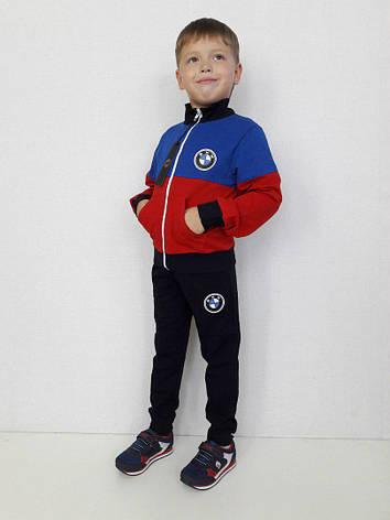 Детский спортивный костюм BMW красный, р.104-152, фото 2