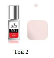 NYD Professional - Цветной гель-лак 10 мл ТОН № 2