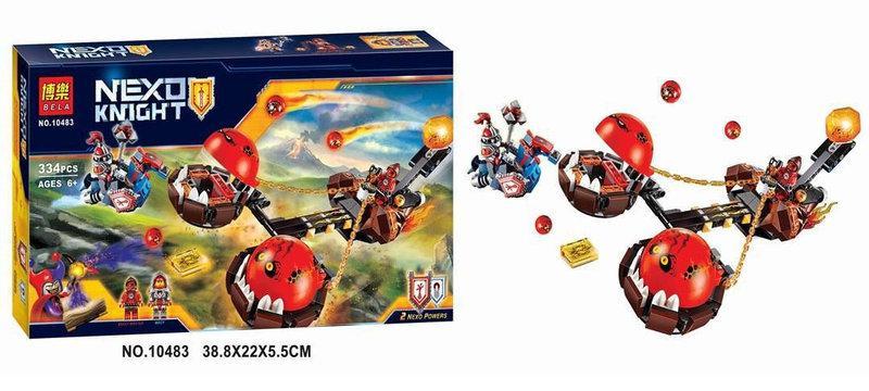 """Конструктор Bela 10483 Nexo Knights (аналог Лего 70314) """"Безумная колесница Укротителя"""" 334 детали"""