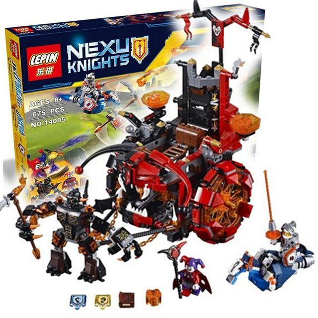 "Конструктор Lepin 14005 Nexo Knights (аналог LEGO) ""Джестро-Мобиль"" 675 деталей"