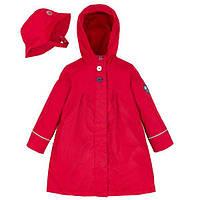 Демисезонный плащ для девочки 2-12 лет на флисовой подкладке с шляпкой (размеры 92-152) ТМ Deux par Deux W63-744