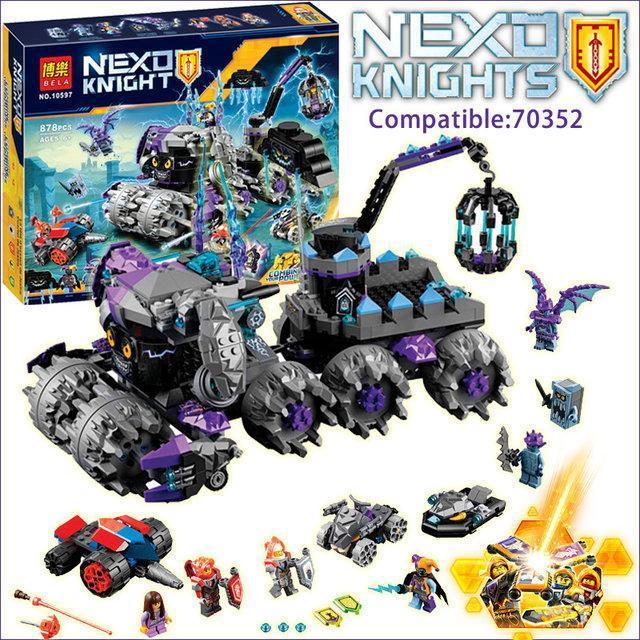 "Конструктор Bela 10597 Nexo Knight (аналог Lego 70352) ""Штаб Джестро"", 878 деталей"