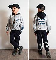 Детский спортивный костюм на мальчика Адидас Спорт синий, р.146