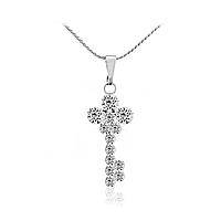Женская подвеска (кулон) с цепочкой  «Ключ к сердцу».  Подлинные кристаллы Swarovski