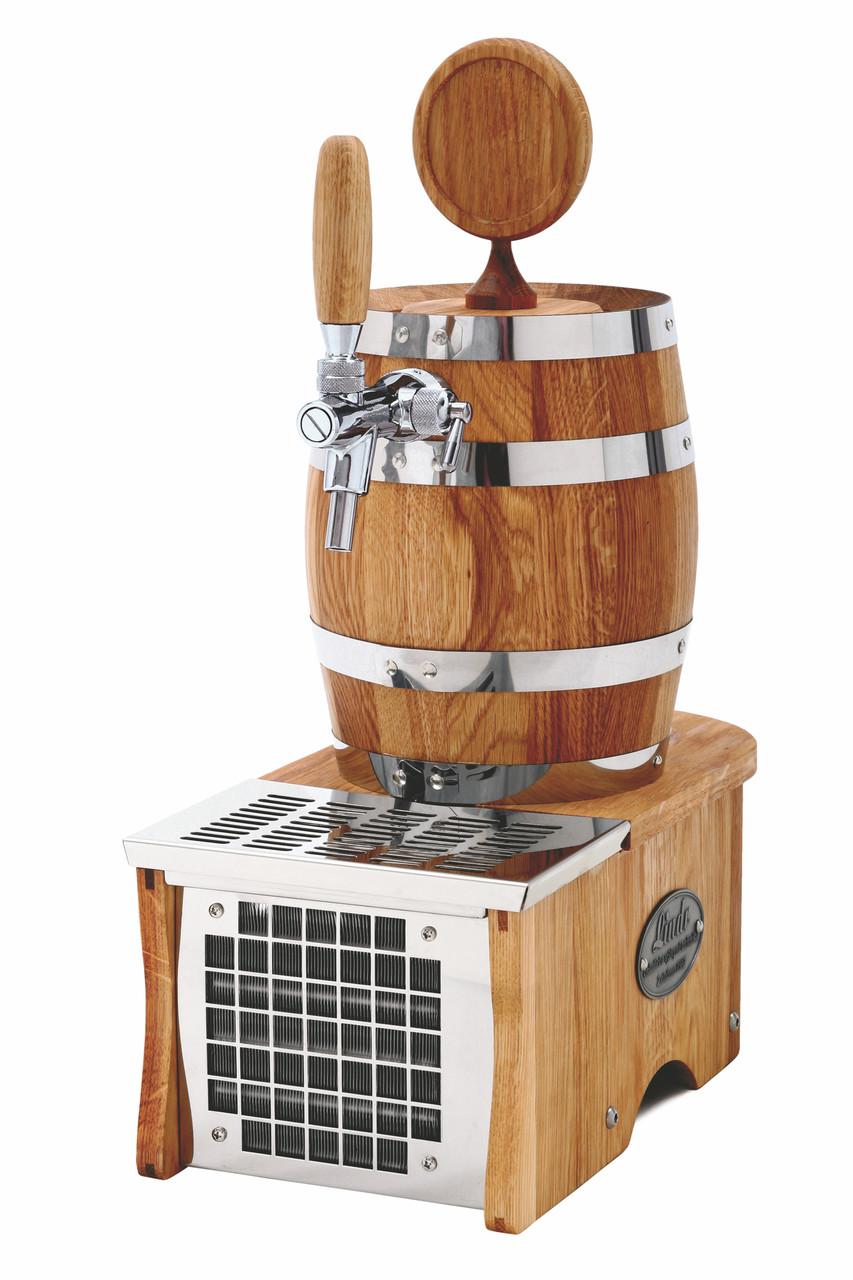 Охладитель пива для домашнего бара - 15 л/ч - сухой, дерево, бочонок, Soudek 1/8, Lindr, Чехия