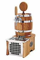 Охладитель пива надстоечный - 15 л/ч - сухой, дерево, бочонок, Soudek 1/8, Lindr, Чехия