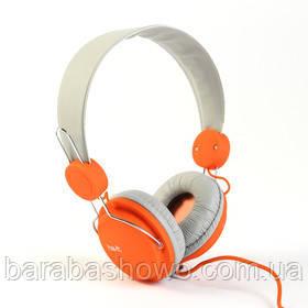 Наушники Havit HV-H2198D, оранжевый с серым, с микрофоном