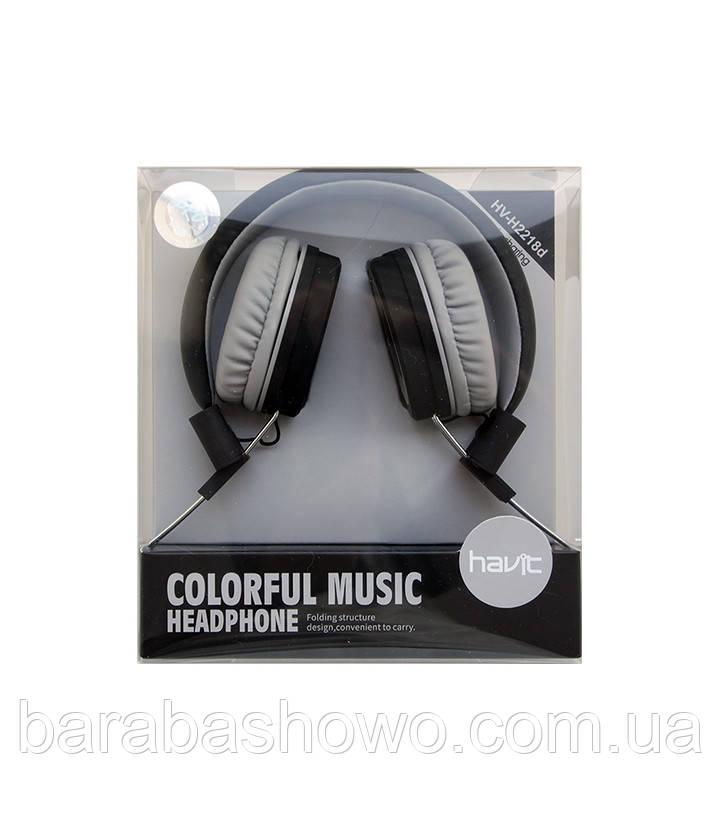 Навушники Havit HV-H2218D, чорні з сірим
