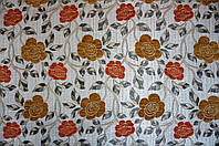 Ткань мебельная Язгулу- шенилл декор / оранж., фото 1