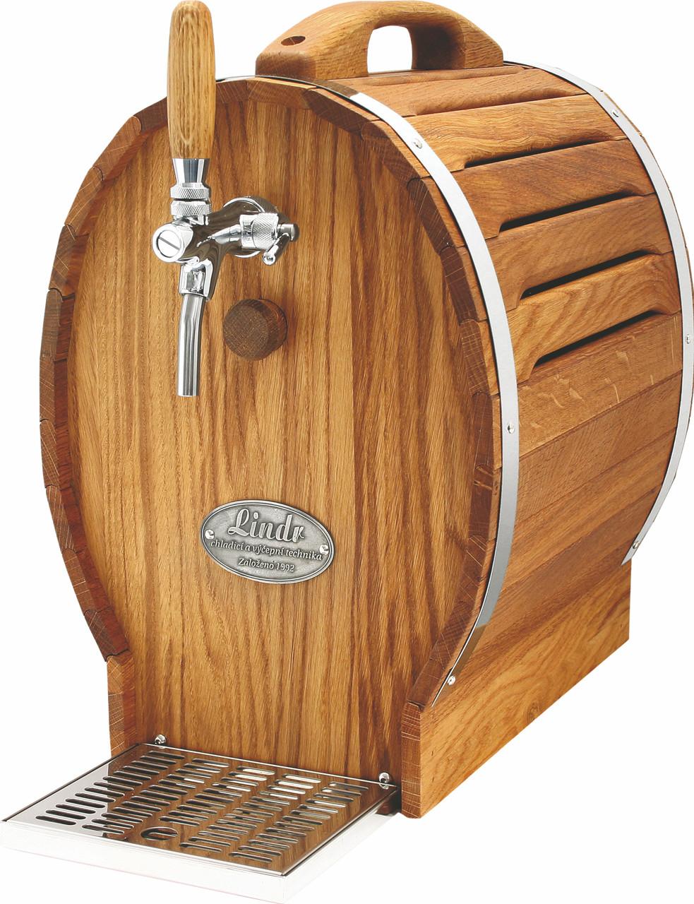 Охладитель вина для домашнего бара - 30 л/ч - сухой, дерево, бочонок, Soudek 30/K, Lindr, Чехия