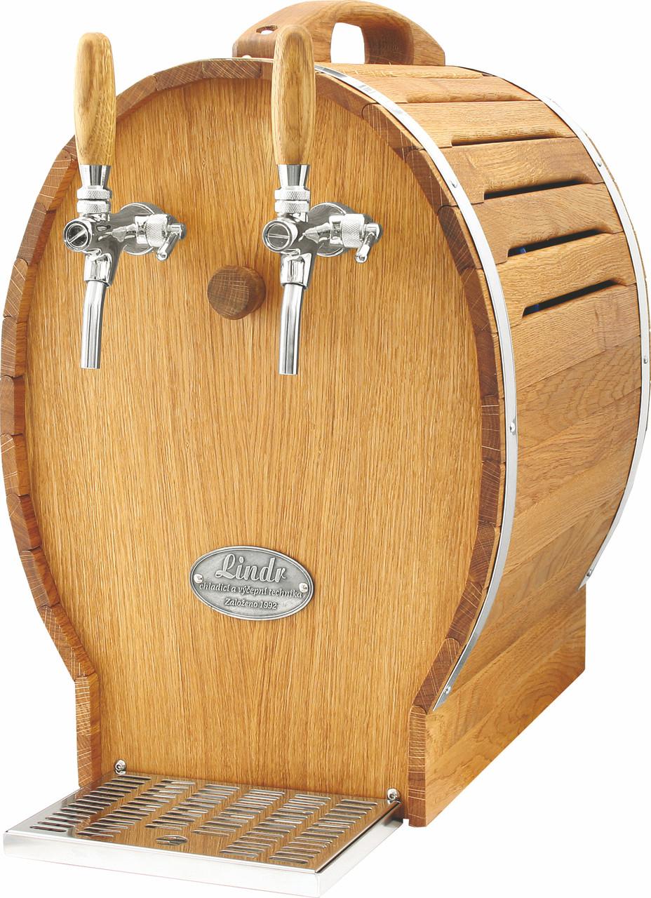 Охладитель вина в виде деревянной бочки - 50 л/ч - сухой, 2 крана, Soudek 50/K, Lindr, Чехия