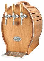 Охладитель вина надстоечный - 50 л/ч - сухой, дерево, бочонок, 3 крана, Soudek 50/K, Lindr, Чехия