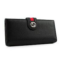 Кошелек Gucci женский черный на кнопке, фото 1