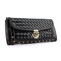 Черная сумочка клатч Mango с ремешком на плечо mng-1075bla, фото 1