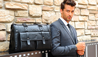 Мужская сумка натуральная кожа Baili Laoren