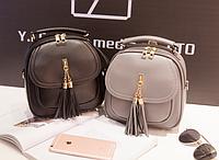 Женская сумка и рюкзак молодежная с кисточкой