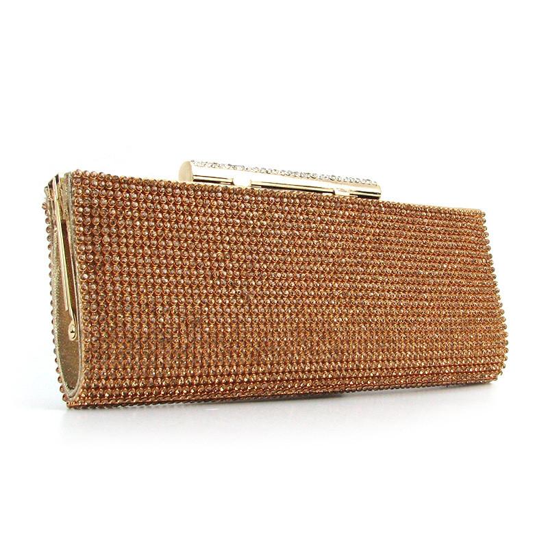 d12d6293d885 Клатч из камней выпускной вечерний золотистый Rose Heart - Интернет магазин  сумок SUMKOFF - женские и