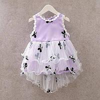 Платье детское нарядное Маленькая Мышка на 1-3 годика